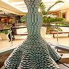 Sculpture Made with Tuna Fish Cans at South Coast Plaza in Costa Mesa CA