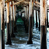 Under Newport Beach Pier in Newport Beach CA