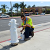Repainting Fire Hydrants in Costa Mesa CA
