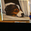 Final Oil Painting of a Dog at the Orange County Fair