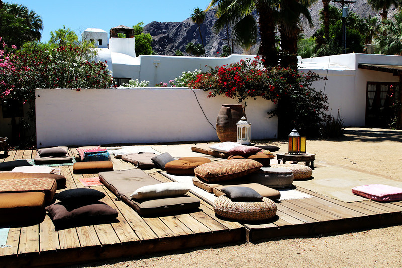 A Nice Place to Visit in the Afternoon or Night at the Korakia Inn in Palm Springs CA