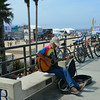 Musician at US Open in Huntington Beach California