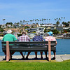 Elderly Folks Enjoying a Day at the Beach in Newport Beach CA