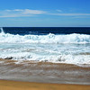 Nice Day at the Beach with Waves and Sand
