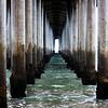 Under the Pier at Huntington Beach CA