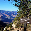 Trail Sign on Bright Angel Trail at the Grand Canyon in Arizona