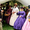 Women in Period Dress at the Huntington Beach Civil War Reenactment