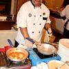 Preparing Cheese Ravioli at Mesa Verde Country Club in Costa Mesa California
