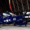 Navy World War II Corsair Fighter Aircraft in Tillamook Air Museum in Oregon